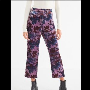 NWT Urban Outfitters | Floral Velvet Pants Sz 6